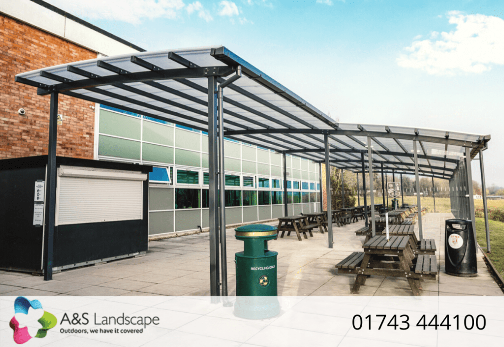 Dining shelter we designed for The Chantry School