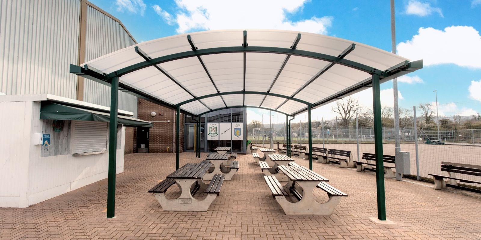 Freestanding shelter we designed for St Peter's High School