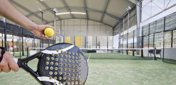 Padel Racket and Ball