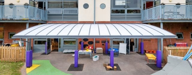 Playground canopy we designed for St Sidwells School