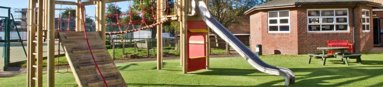 Playground equipment at Brighton and Hove Junior School