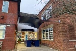 Sail shade we designed for Epsom College
