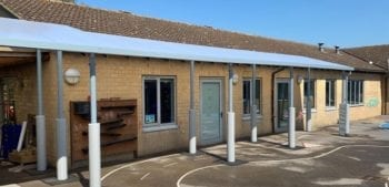 Covered walkway we designed for Booker Park School