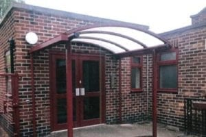 Entrance canopy we designed for English Martyrs Primary School