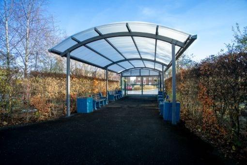 Entranceway shelter we added to Melland High School