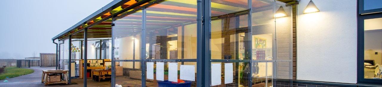 Outdoor classroom at Monksmoor Park Primary School