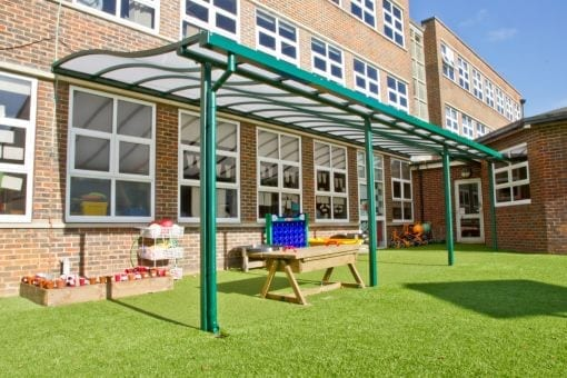 Playground canopy we designed for Brighton and Hove Junior School