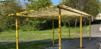 Playground canopy we designed for Sycamore Academy