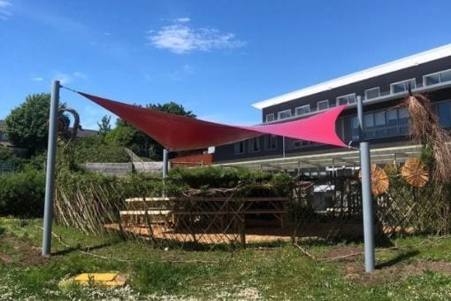 Sail shade we designed for Wilkinson Primary School