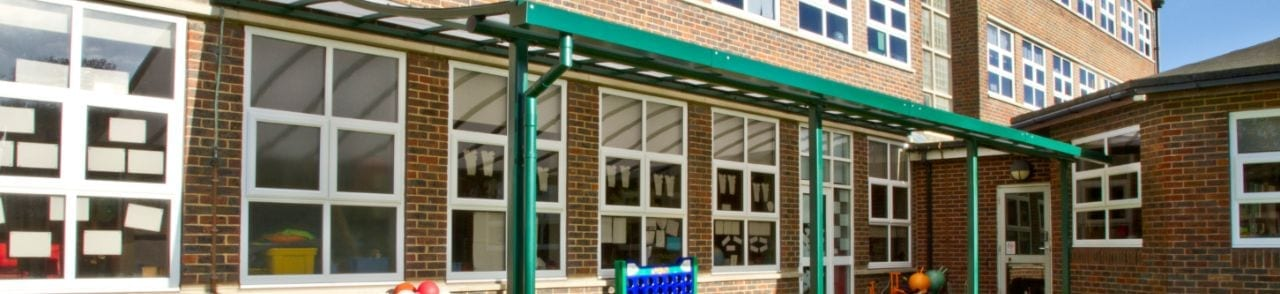 Wave Roof Canopy we fitted at Brighton and Hove Junior School