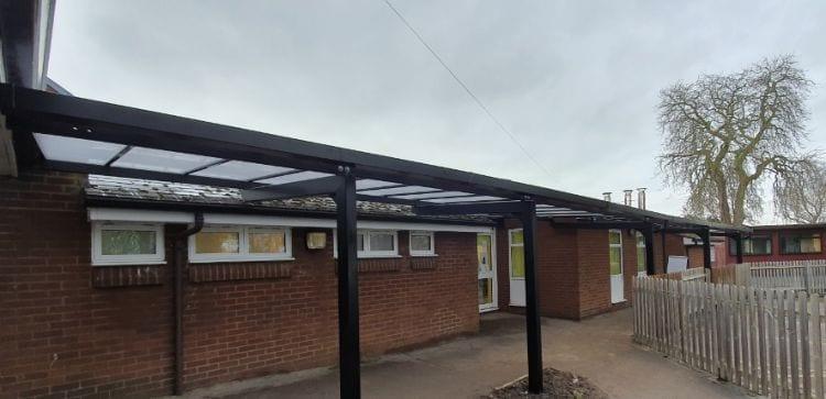 Bespoke canopy we designed for St George's Junior School