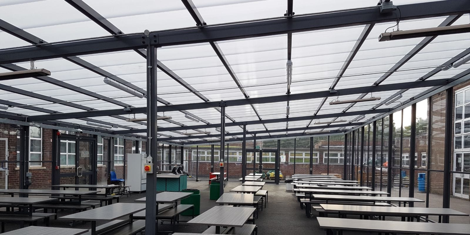 Covered seating area we added to St Gabriel's RC High School