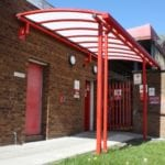 Covered walkway we designed for Royal Mail Middleton
