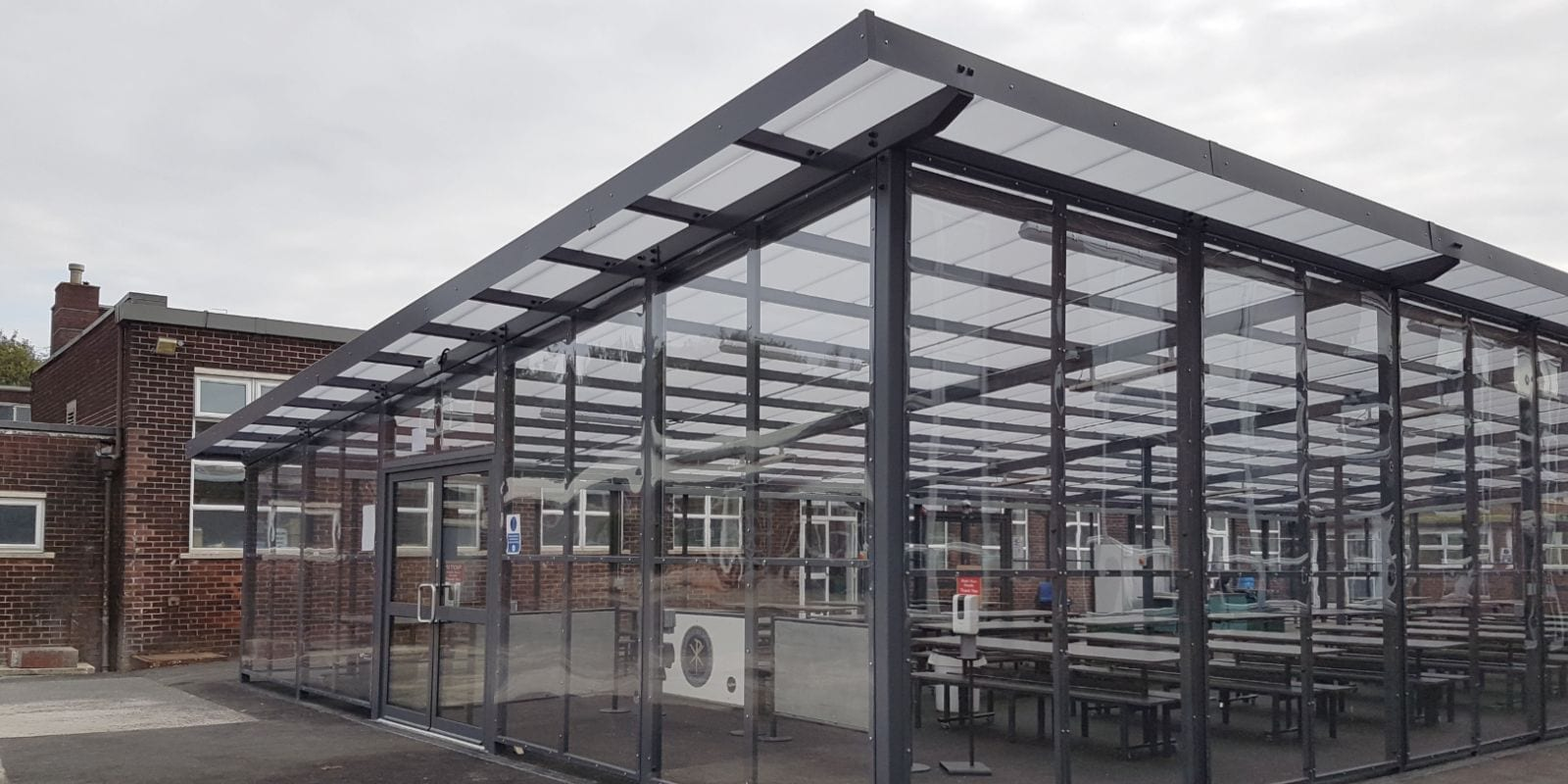 Dining shelter we designed for St Gabriel's RC High School