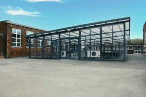 Enclosed dining area canopy at St Gabriels High School