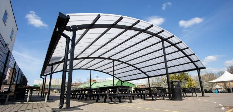 Large shelter we installed at The Cardinal Wiseman School