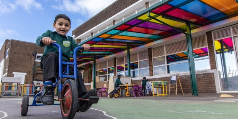 Playground canopy we manufactured for Zaytouna Primary School