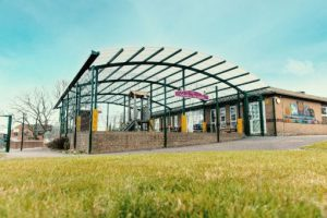 Playground canopy we made for Bickleigh Down Primary School