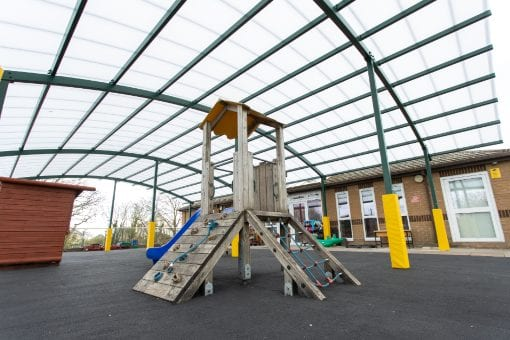 Playground cover we designed for Bickleigh Down C of E Primary School