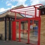 Bespoke shelter we designed for Oakfield Primary School