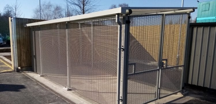 Bespoke shelter we installed at York Inpatient Facility