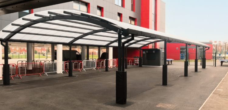 Dining shelter we installed at Dean Trust Ardwick