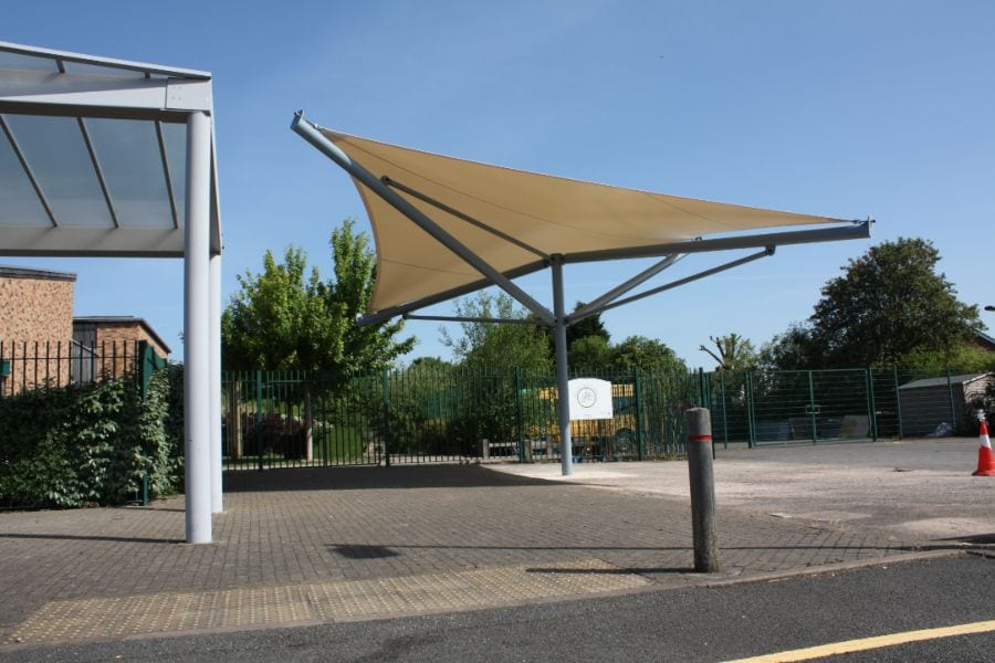 Fabric canopy we made for Green Park Primary School