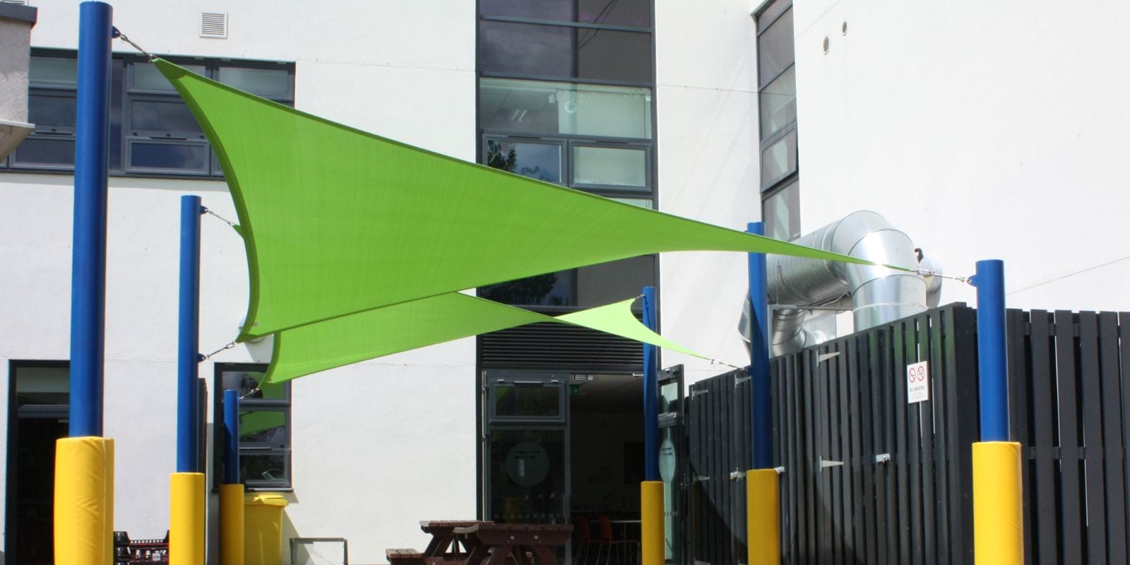 Fabric canopy we fitted at South Gloucester College