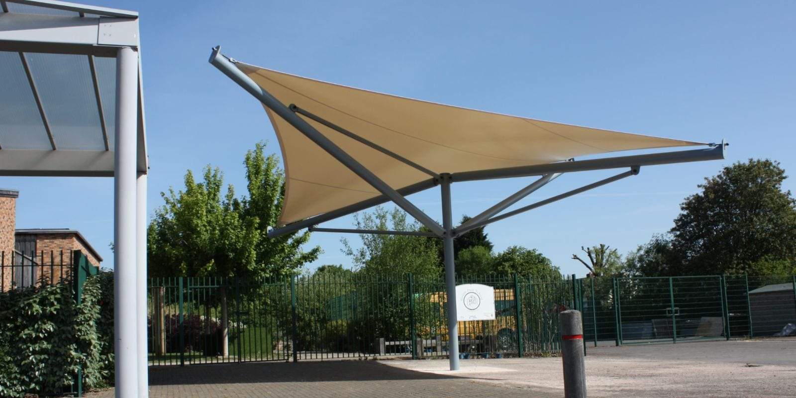 Fabric shelter we manufactured for Green Park Primary School