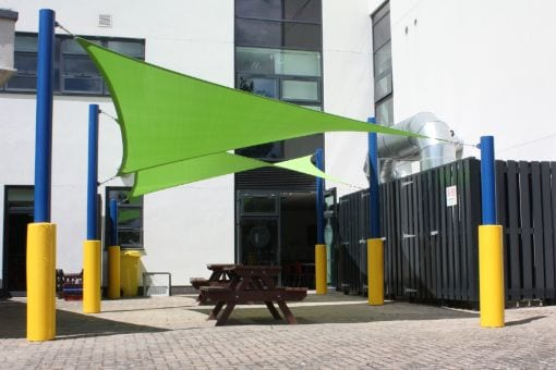 Fabric shelter we manufactured for South Gloucester College