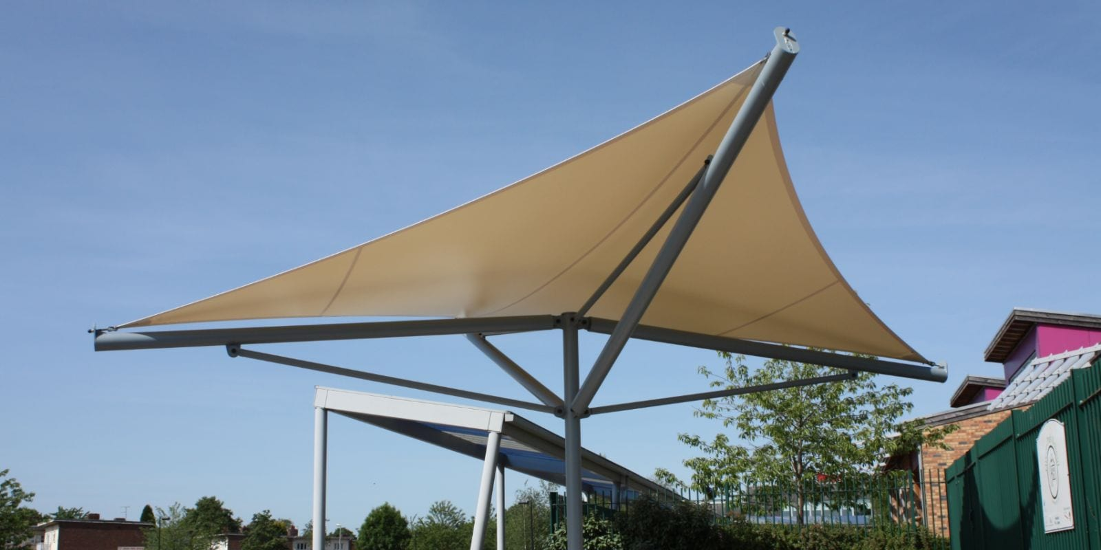 Freestanding canopy we designed for Green Park Primary School