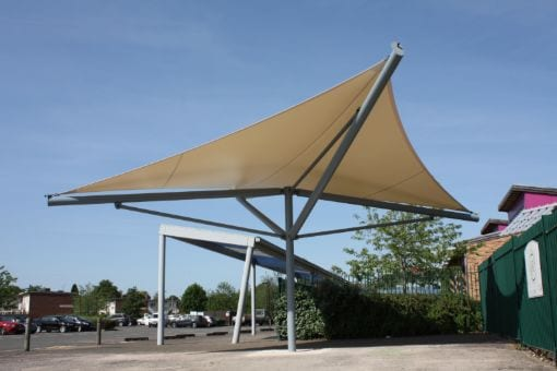Freestanding shelter we built at Green Park Primary School