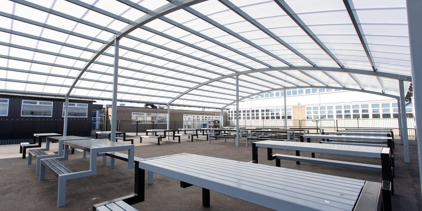 Freestanding shelter we built for John Taylor High School