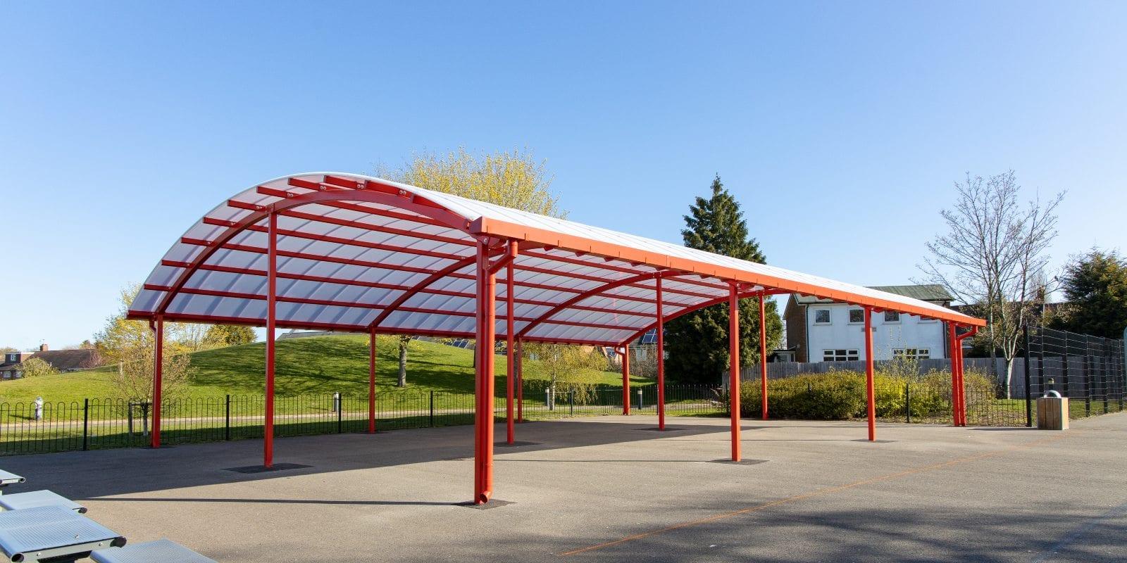 Large canopy we added to King Edward Sheldon Heath Academy