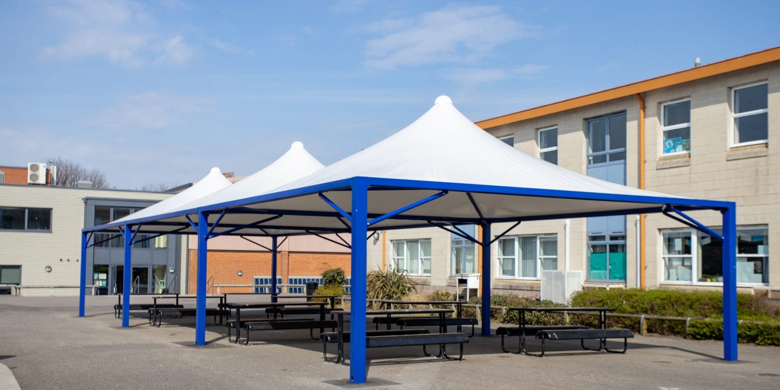 Tepee canopies we made for The Harvey Grammar School