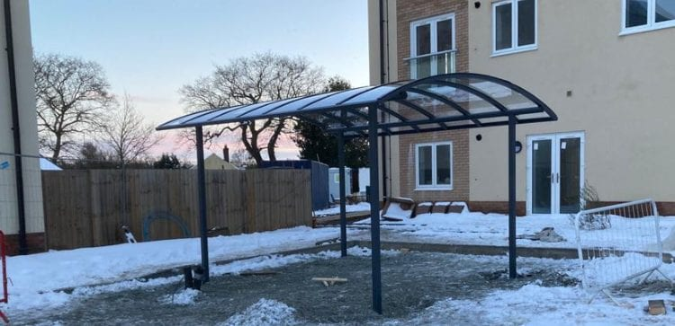 Bicycle shelter we installed at Meadow Walk Retirement Village