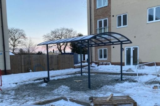 Bike shelter we made for Meadow Walk Retirement Village
