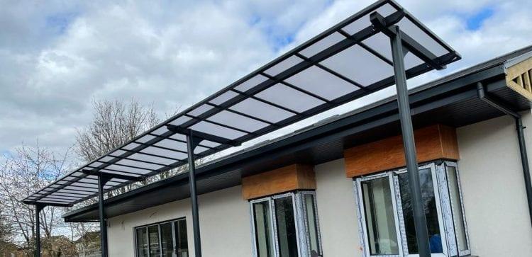 Cantilever shelter we designed for Thomas Hickman School