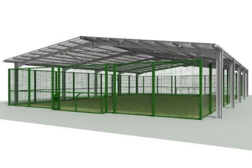 Covered MUGA shelter at Rumworth School