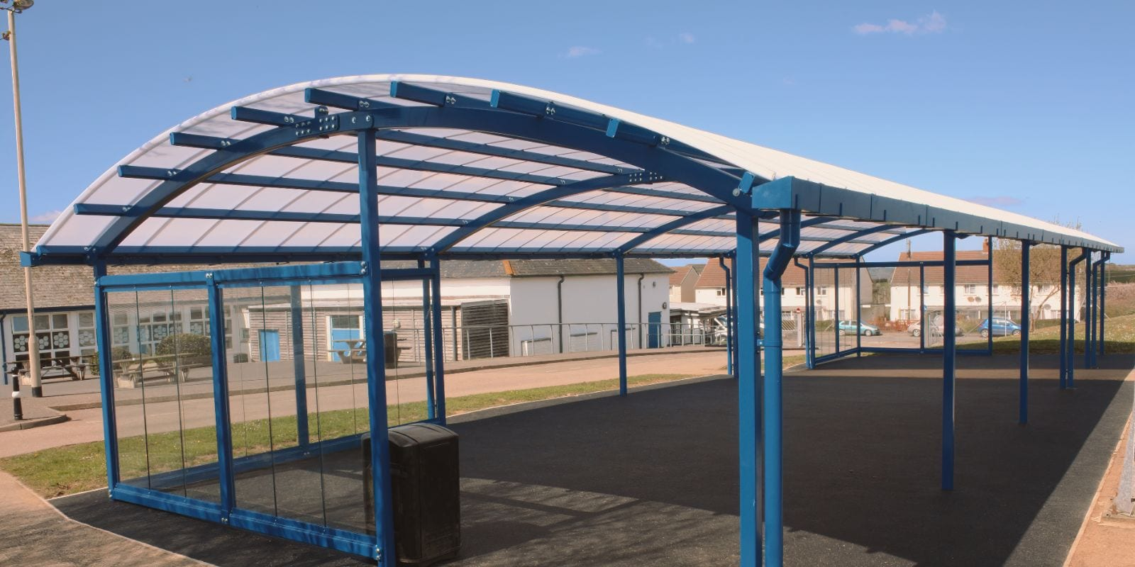 Dining area canopy we made for Great Torrington School