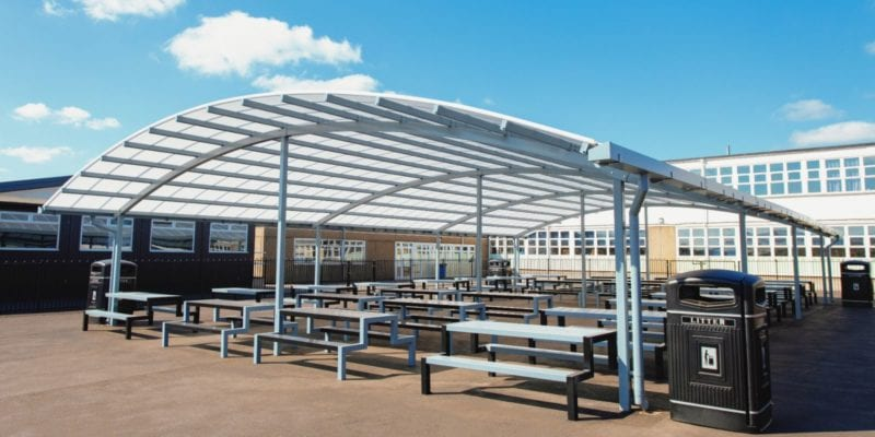 Large dining shelter we created for John Taylor High School