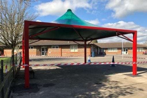 Playground canopy we designed for Kingsnorth Primary School