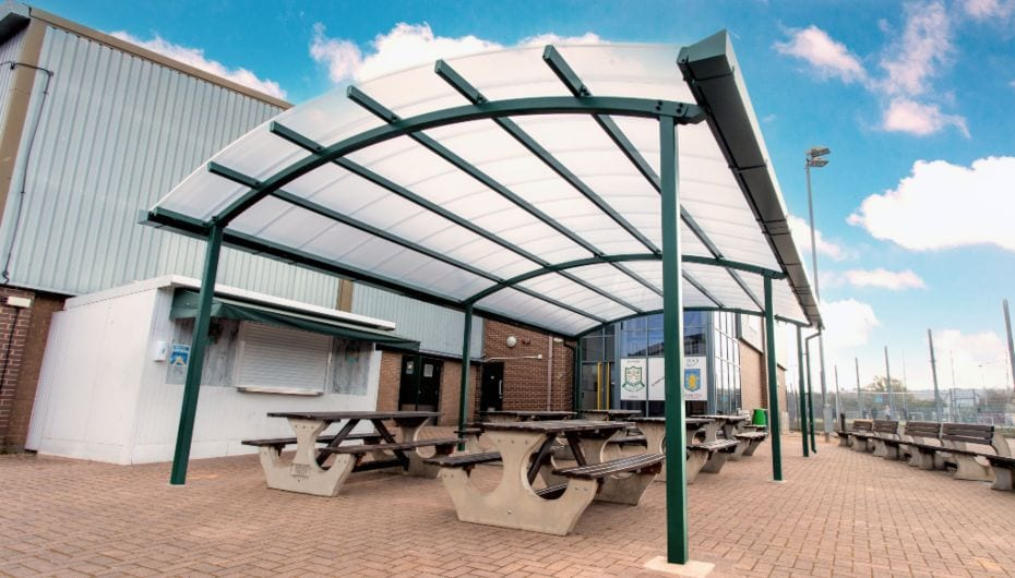 School canopy we designed for St Peter's High School