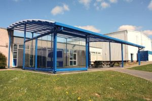Shelter with sides we created for Great Torrington School