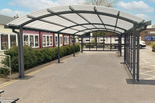 Canopy with sides we designed for Archbishop Holgates School