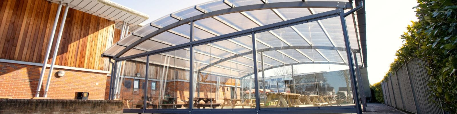 Canopy with sides at Lincroft Academy