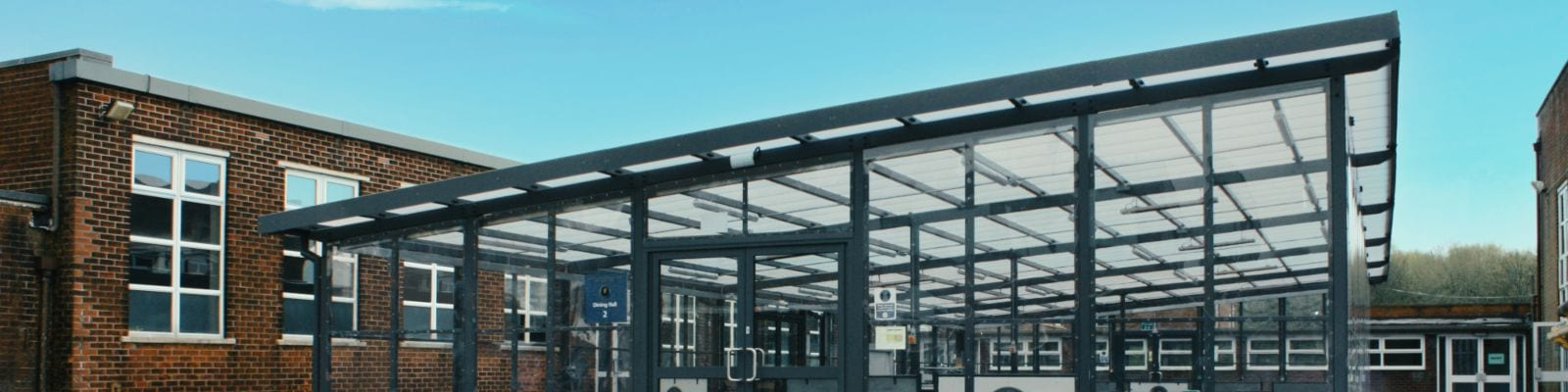 Canopy with sides at St Gabriel's High School
