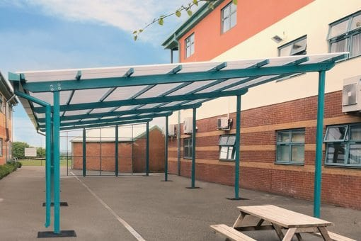 Dining canopy we manufactured for Royal Wootton Bassett Academy