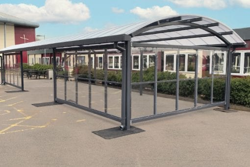 Outdoor canopy we fitted at Archbishop Holgates School