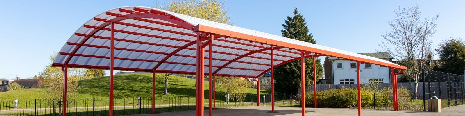 Outdoor canopy we made for King Edward Sheldon Heath Academy